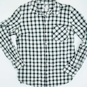Merona Plaid Long Sleeve Shirt NWOT